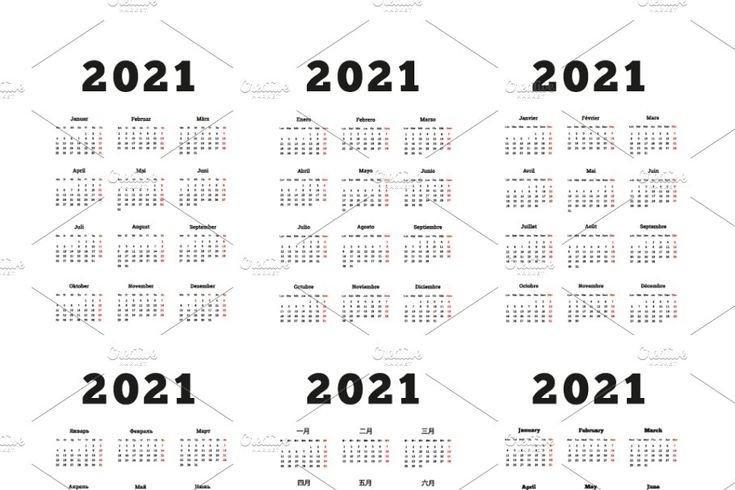 2021 Year Simple Vertical Calendars   Vertical Calendar
