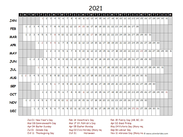 2021 Yearly Project Timeline Calendar Philippines - Free