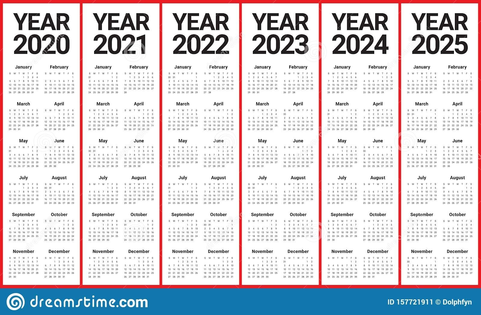 3 Year Calendar 2020 To 2023 | Calendar Template Printable
