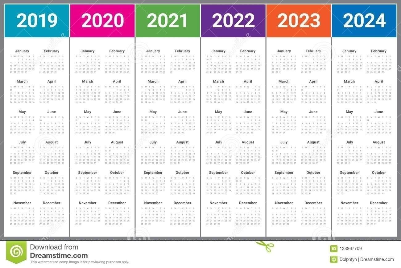 3 Year Calendar 2021 To 2023 | Calendar Template Printable
