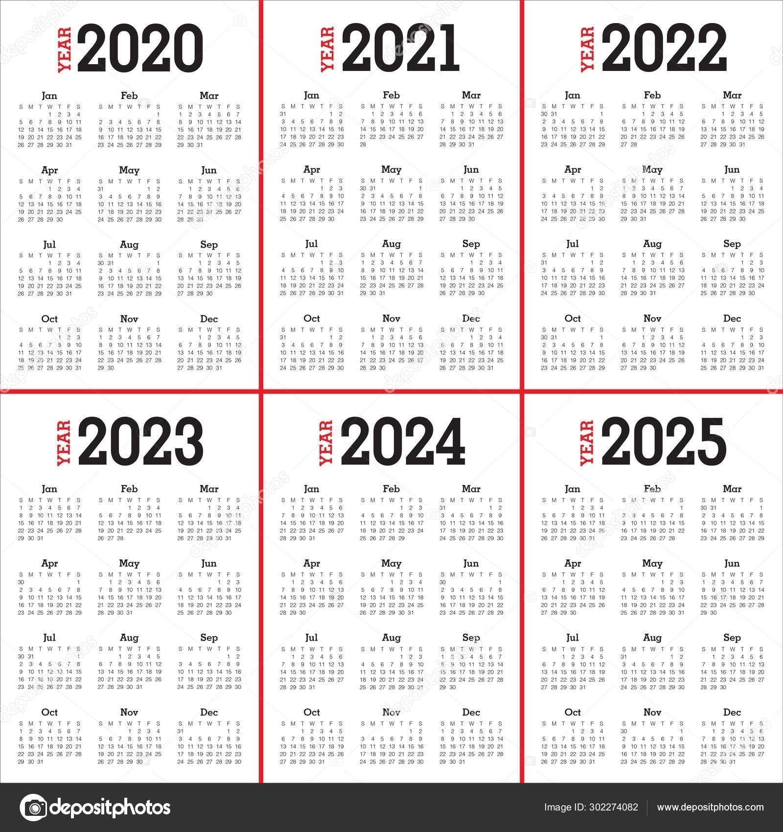 3 Year Calendar 2021 To 2023 | Month Calendar Printable