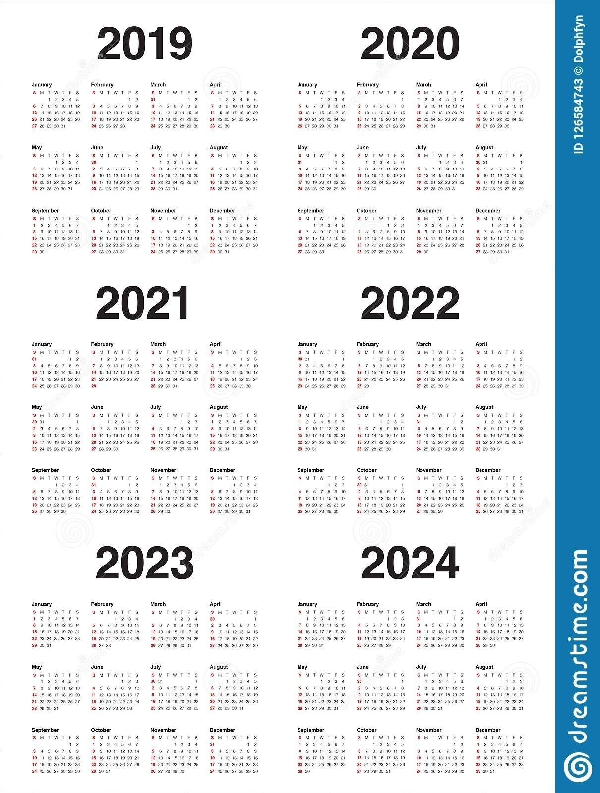 3 Year Calendar 2022 To 2024 | Month Calendar Printable