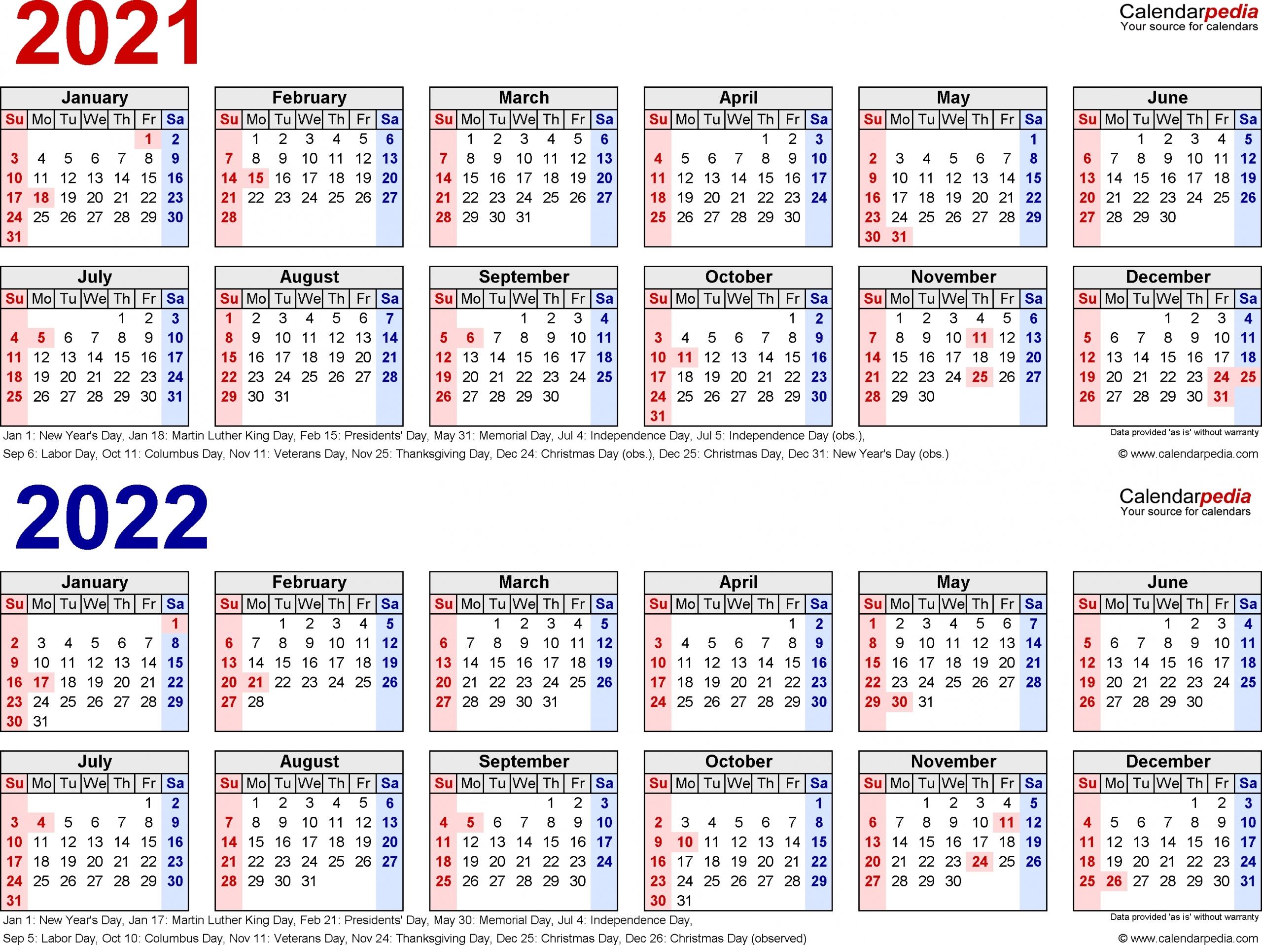 3 Year Calendars 2021 2022 2023 Free Printable   Calendar