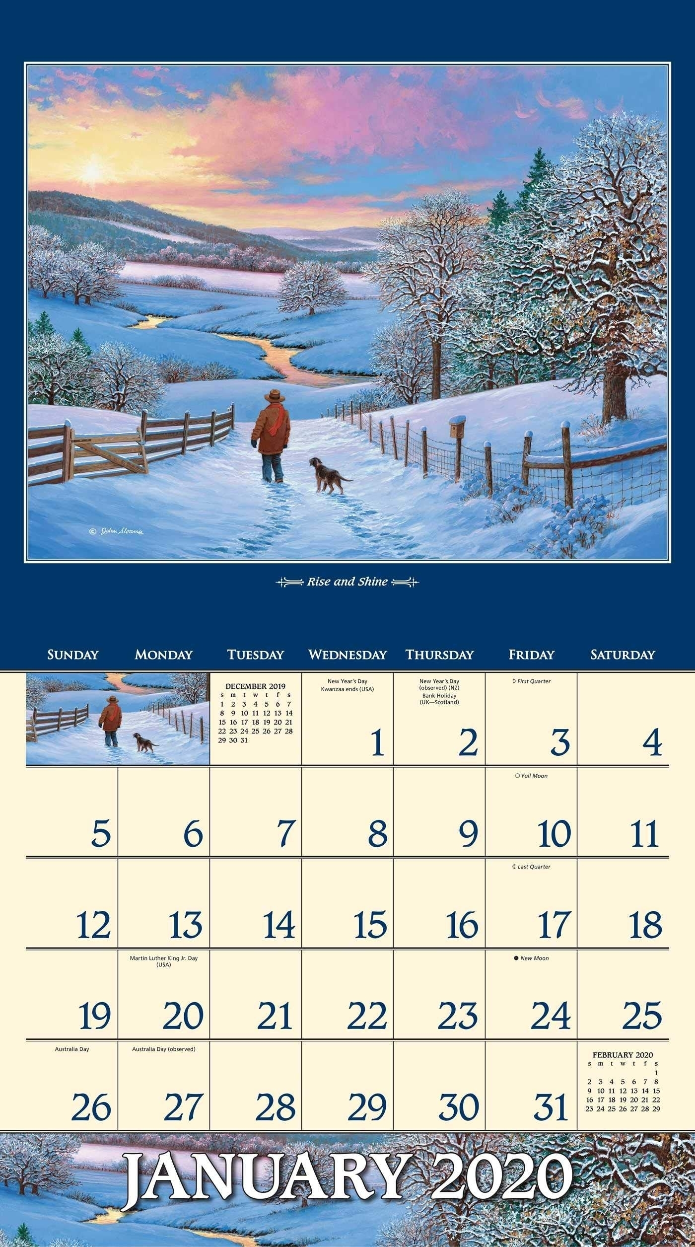 4 Seasons Calendar 2020 | Month Calendar Printable