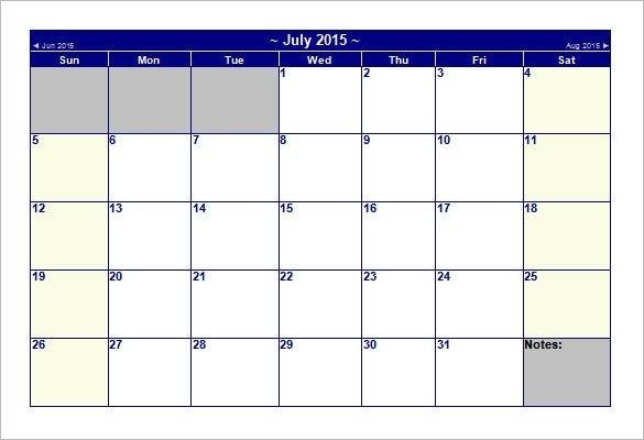 40+ Microsoft Calendar Templates - Free Word, Excel