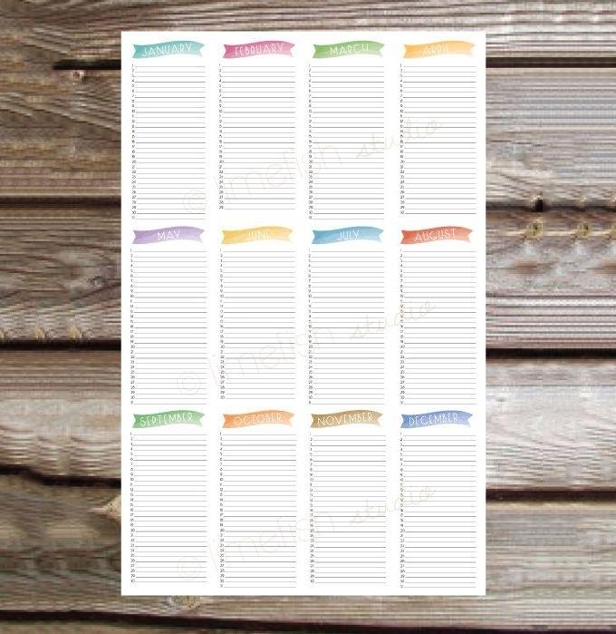45+ Birthday Calendar Templates - Psd, Pdf, Excel