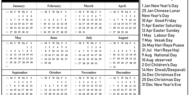 5 Year Calendar 2020 To 2025 | Free Printable Calendar