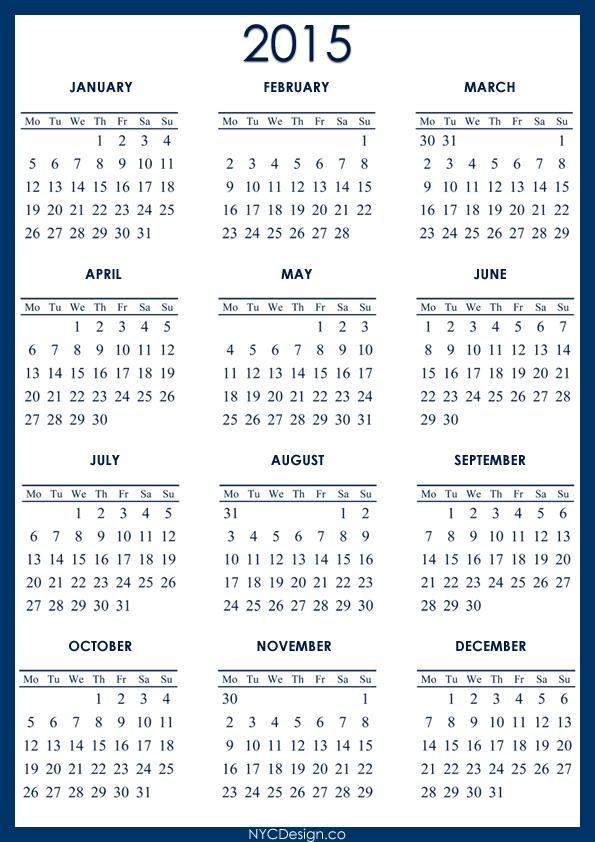 5 Year Calendar Printable - Calendar Template 2021