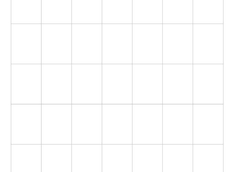 6 Week Blank Calendar Printable | Working Calendar