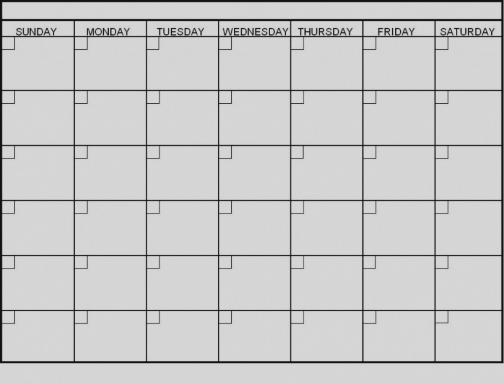 6 Week Calendar Templates - Calendar Template 2021