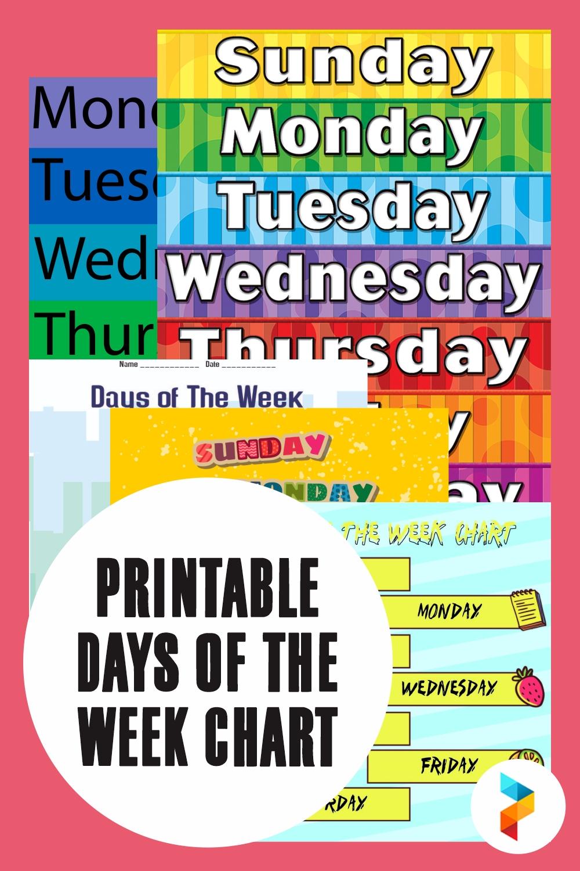 7 Best Printable Days Of The Week Chart - Printablee