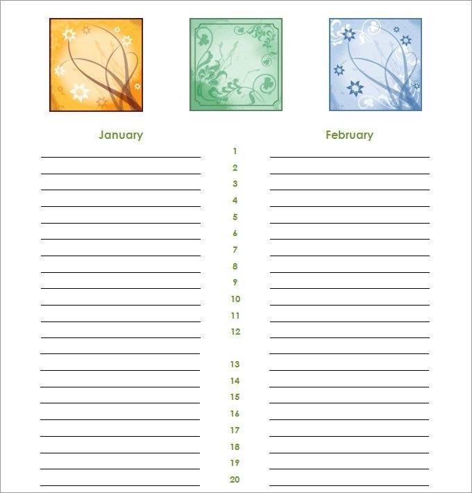 76 Free Printable Birthday Reminder Calendar, Reminder