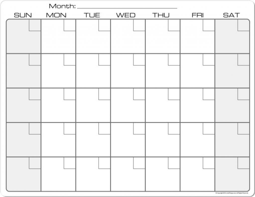 8.5 X 11 Blank Calendars To Print - Calendar Template 2021
