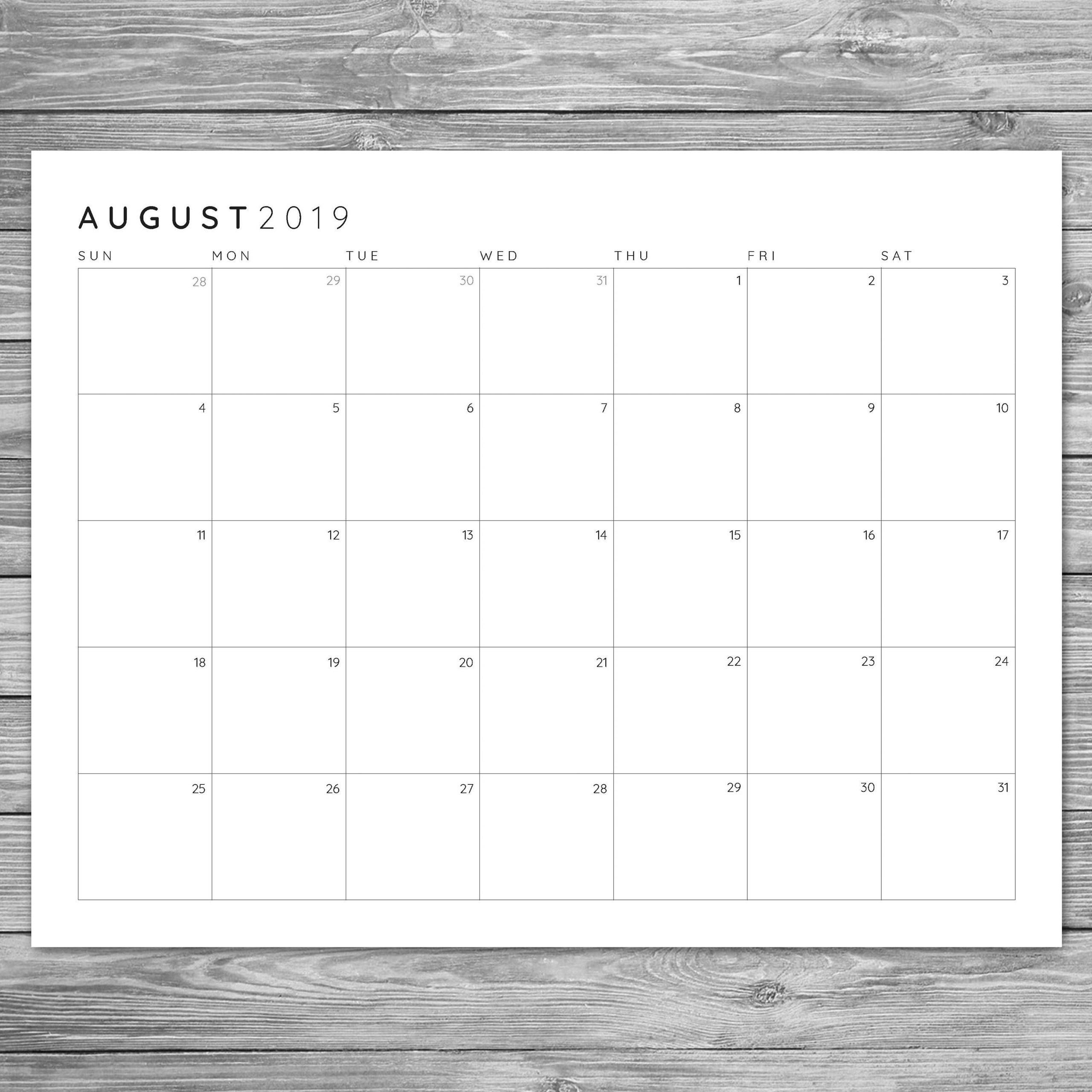 8.5 X 11 Blank Printable Calender | Calendar Template