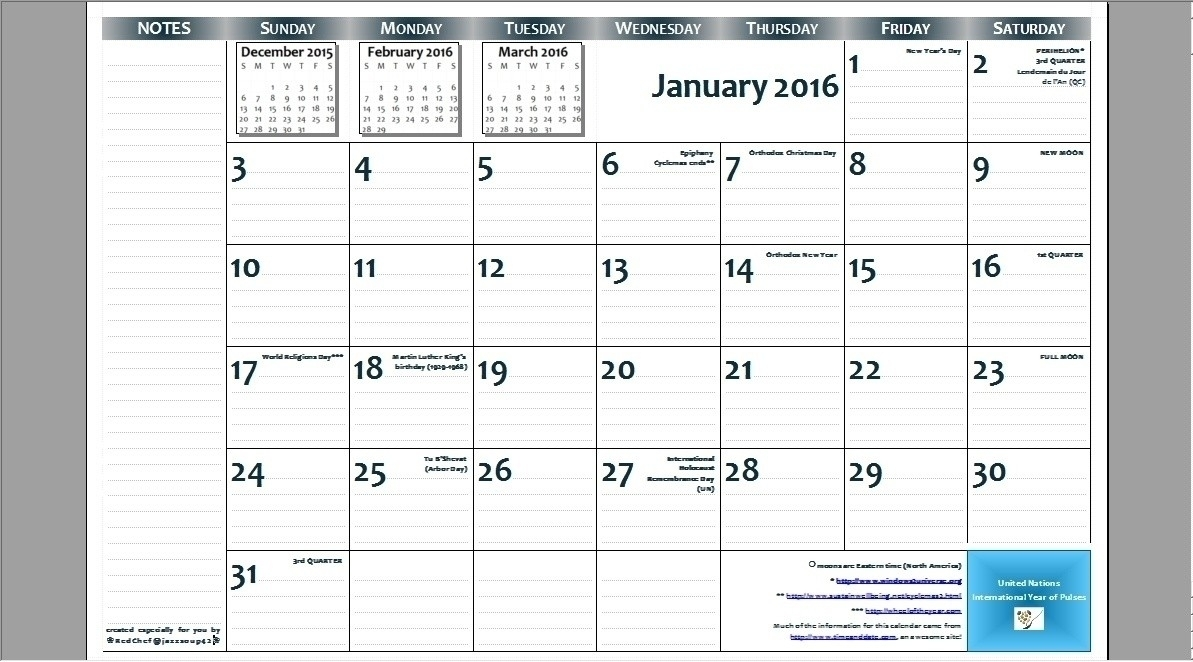 8.5 X 14 Monthly Calendar | Calendar Template Printable
