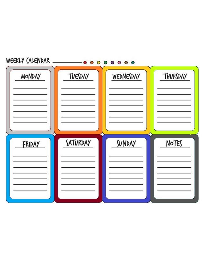 8+ Free Printable Weekly Calendar Templates In Pdf