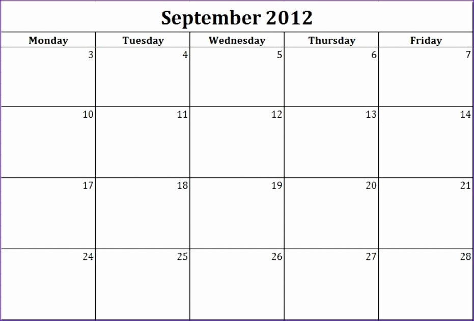 8 Monthly Schedule Template Excel - Excel Templates