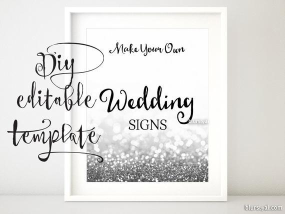 8X10 Diy Printable Sign Template For Word. Make Your
