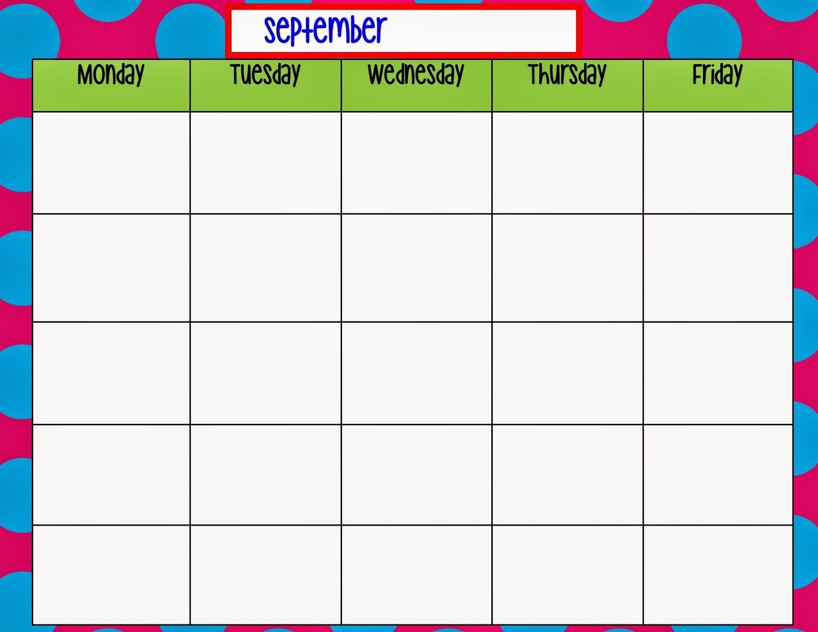 9 Best Monday Through Friday Planner Printable
