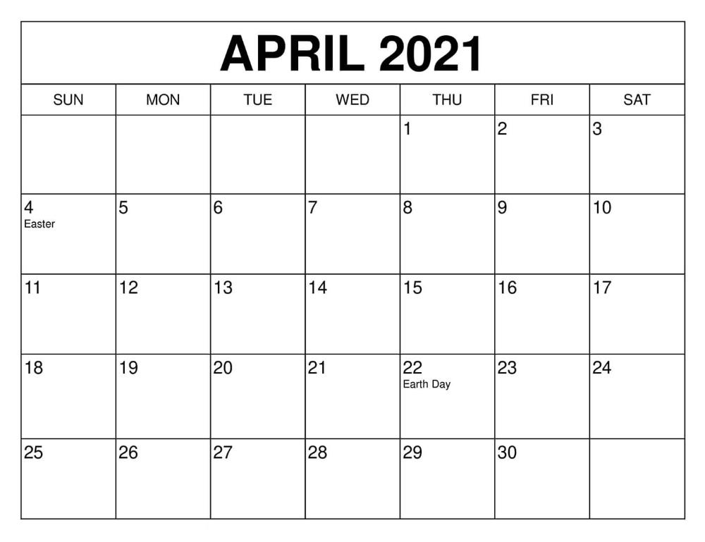 April 2021 Calendar Uk Usa Holidays Template |