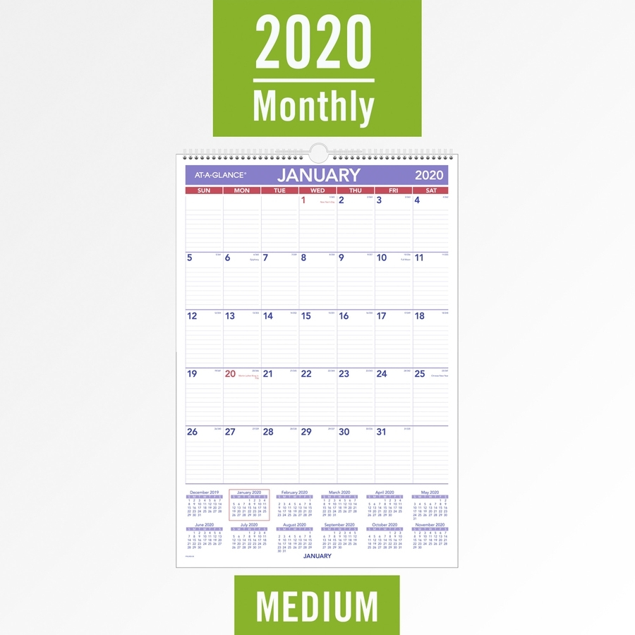 At-A-Glance Pmlm03-28, At-A-Glance Laminated Wall Calendar