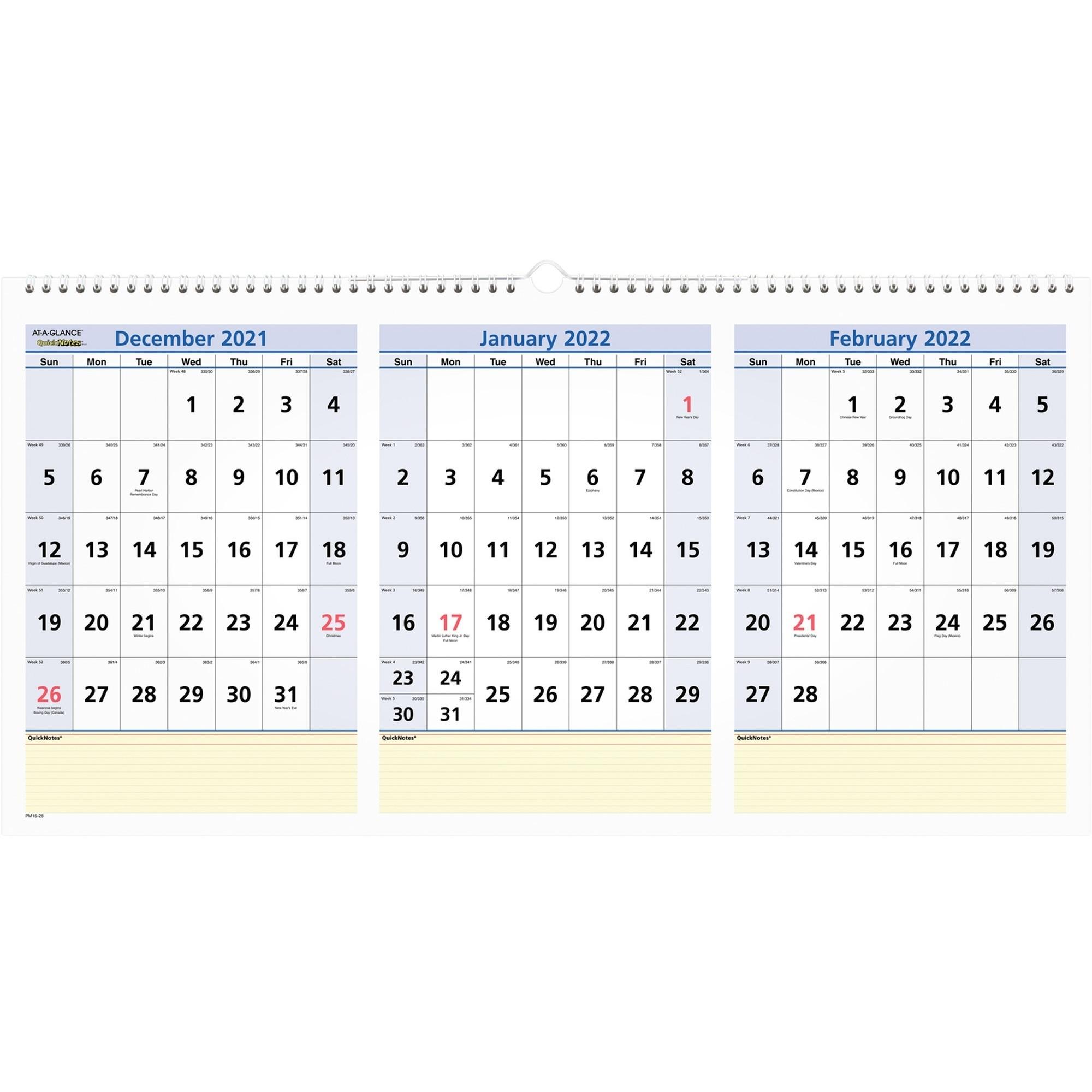 Three Year Calendar At A Glance