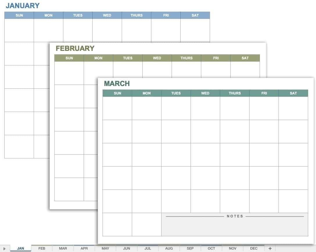 Blank Calendar Template Starting With Monday | Calendar