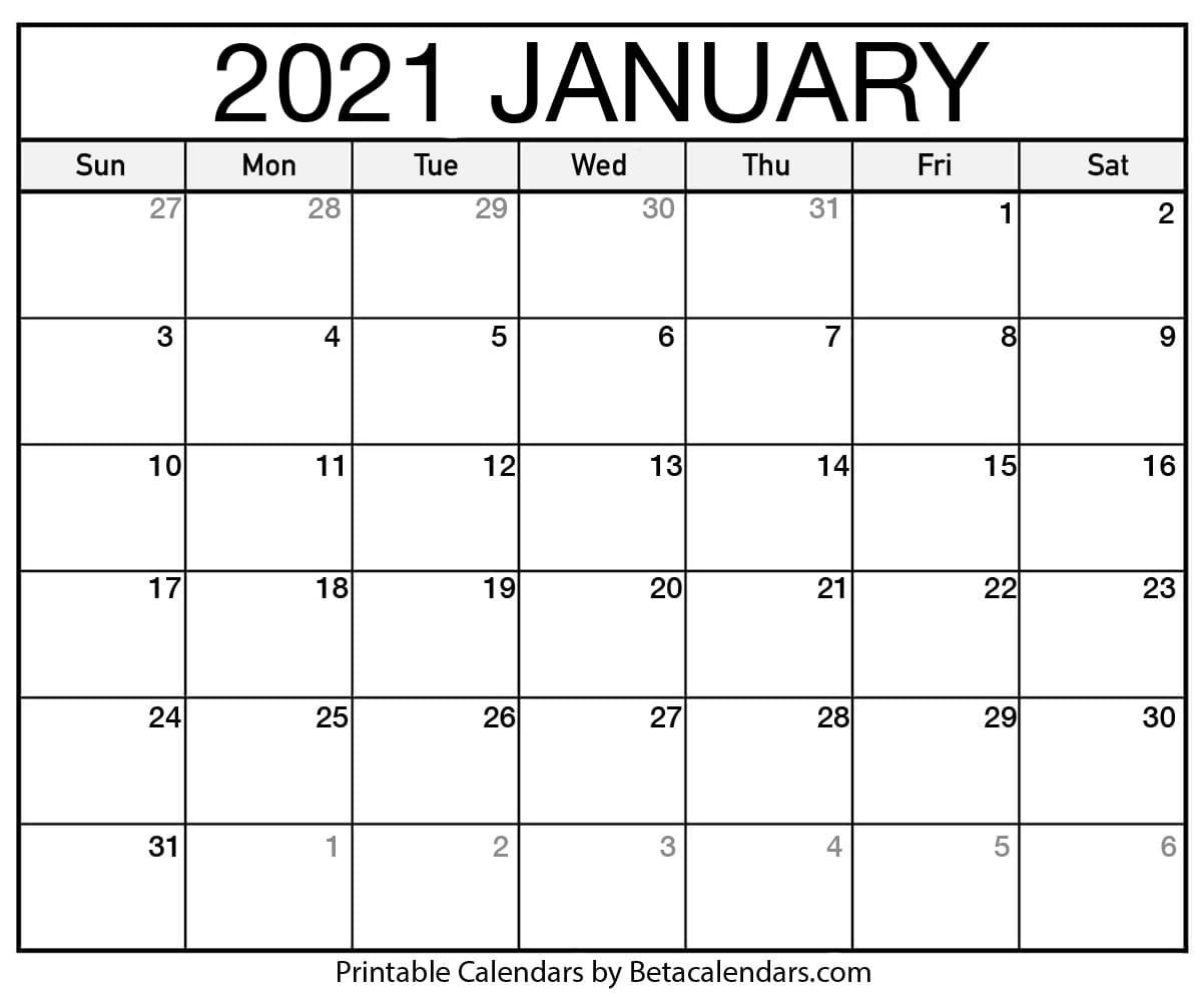 Blank Calendar You Can Type On 2021 - Example Calendar