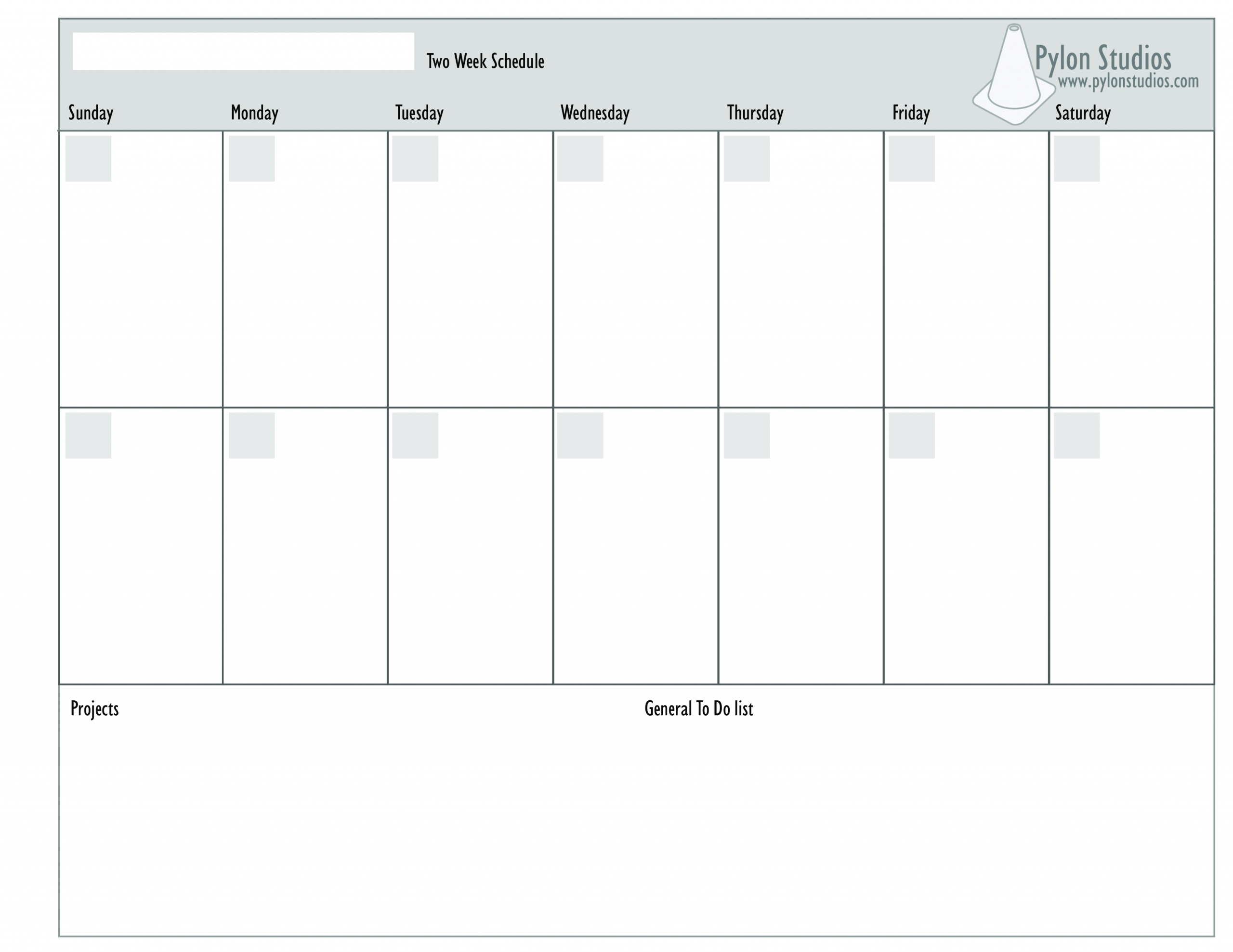 Blank Monday Through Friday Template | Ten Free Printable