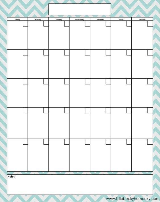 Blank Monthly Calendar Portrait - Google Search | Free