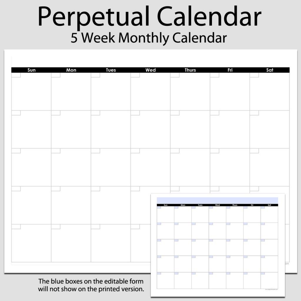 Blank Monthly Calendar Printable 8.5 X 11 | Example