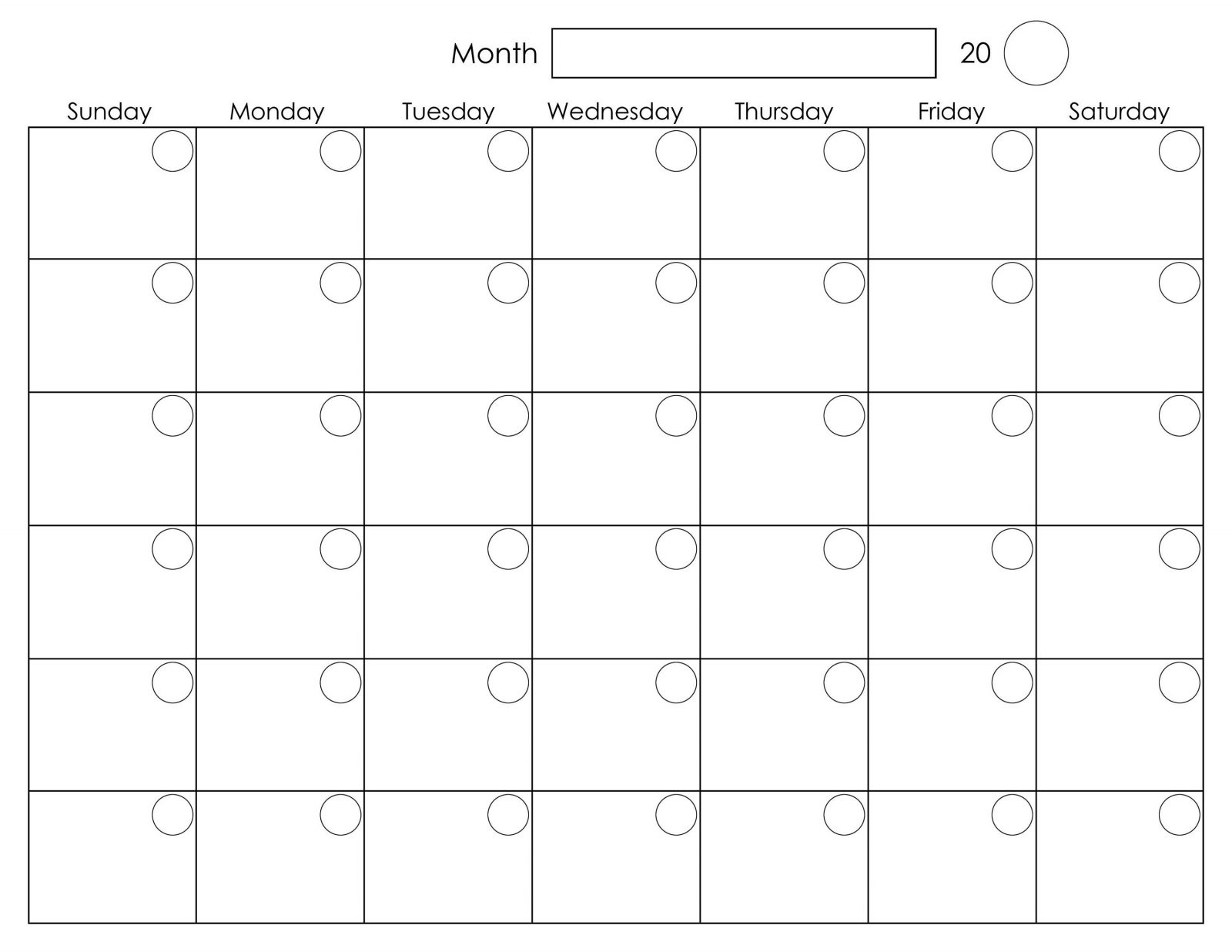 Blank Monthly Planner Starts On Monday | Example Calendar