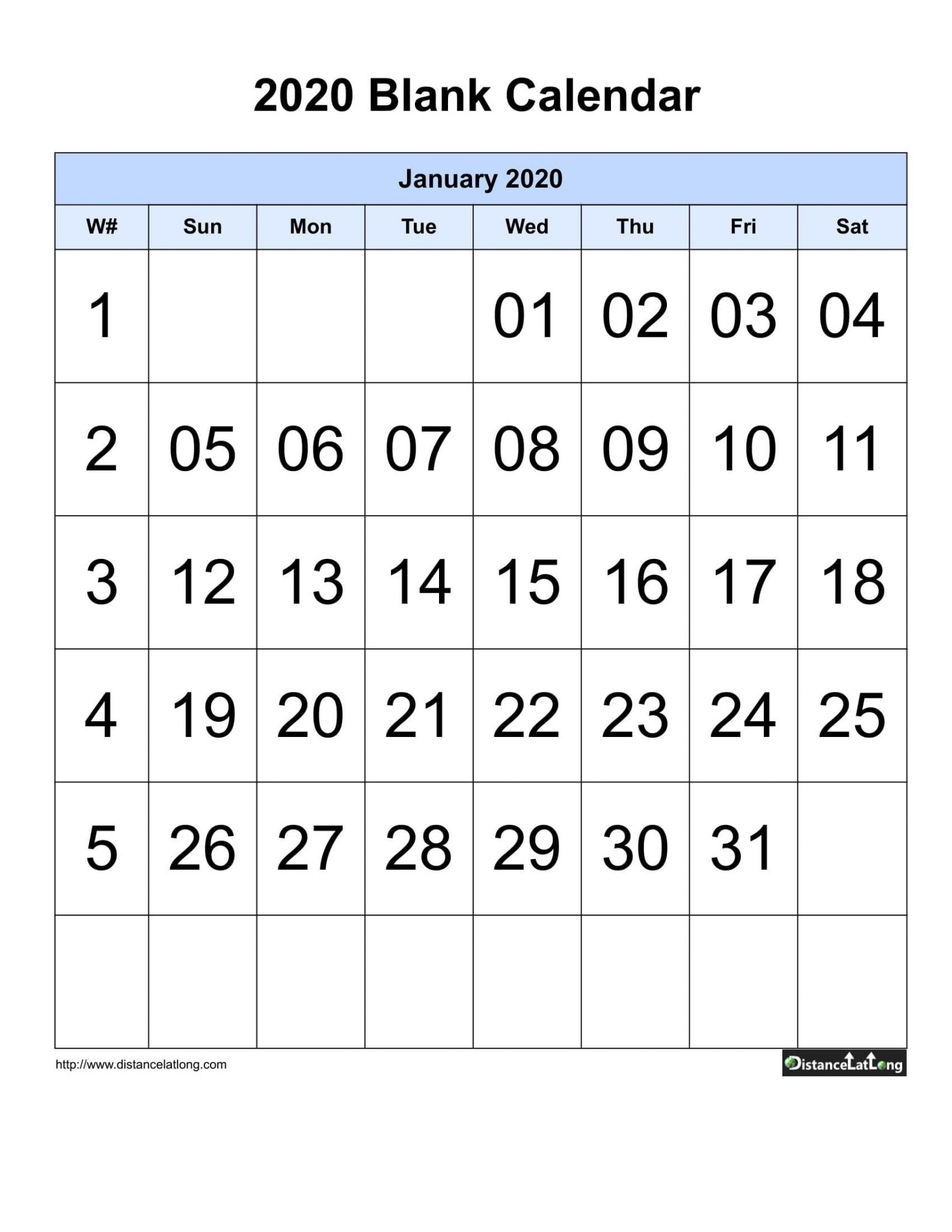Blank Sunday Through Saturday Calendar :-Free Calendar