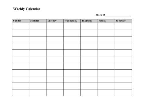 Blank Week Calendar Clipart 20 Free Cliparts | Download