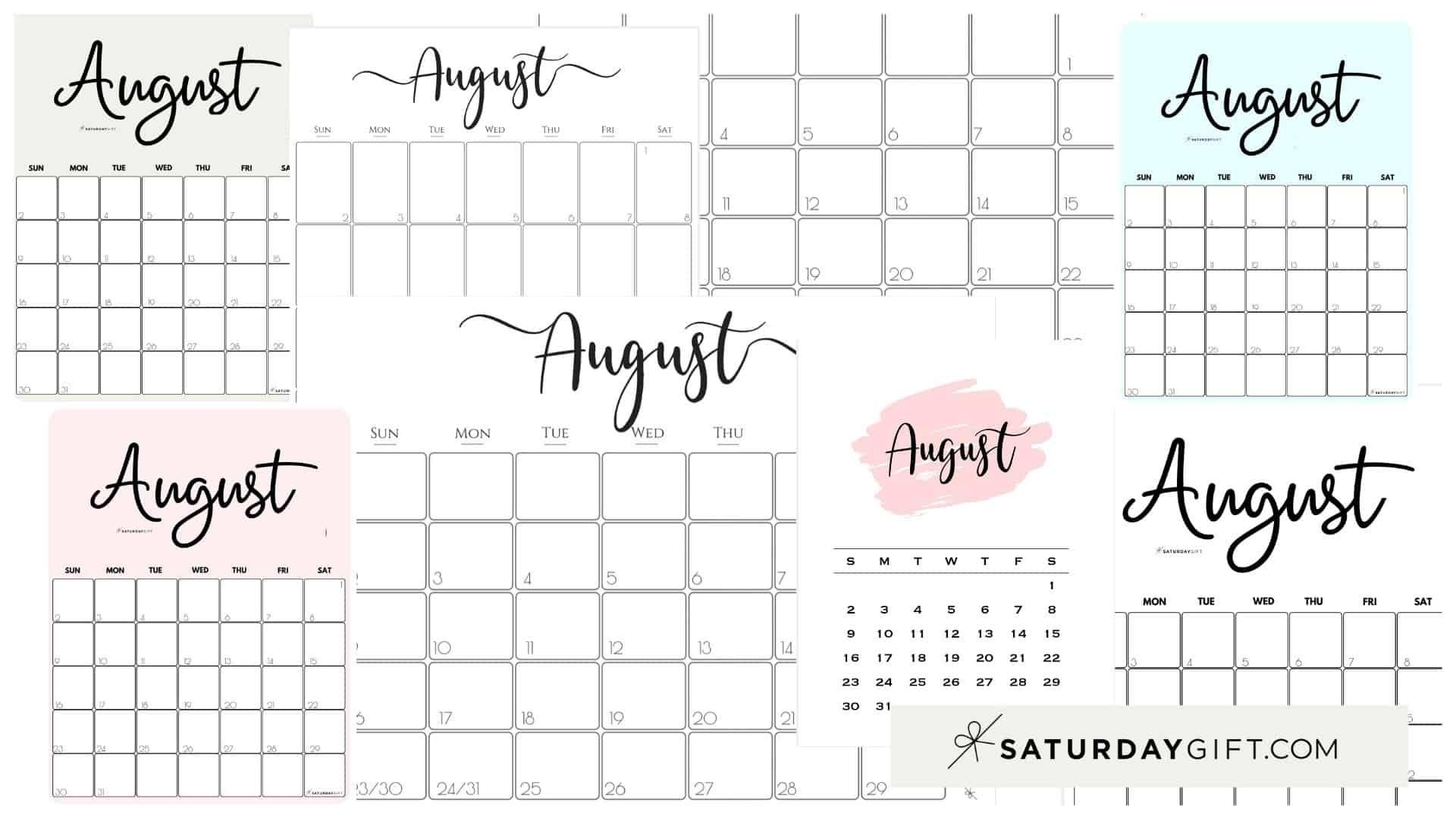 Blank Write In Calendar August 2021 | Month Calendar Printable