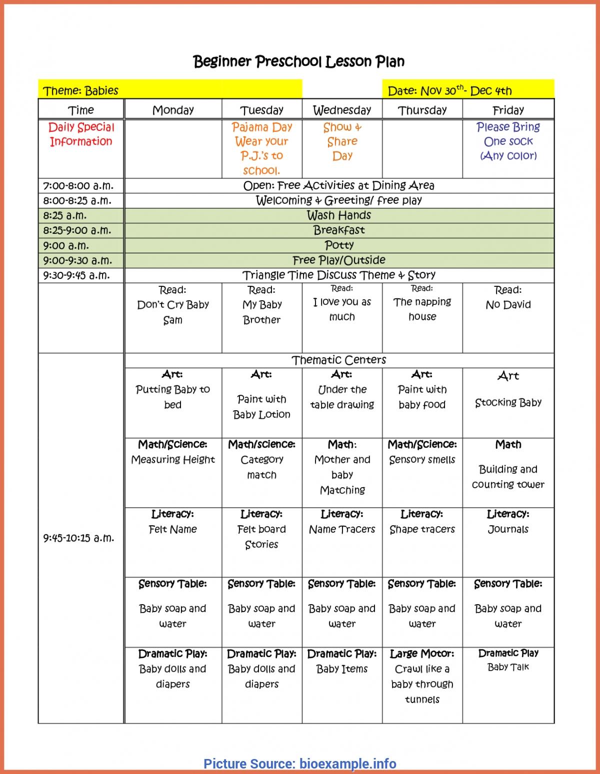 Briliant Preschool Weekly Themes For The Year Summer Camp
