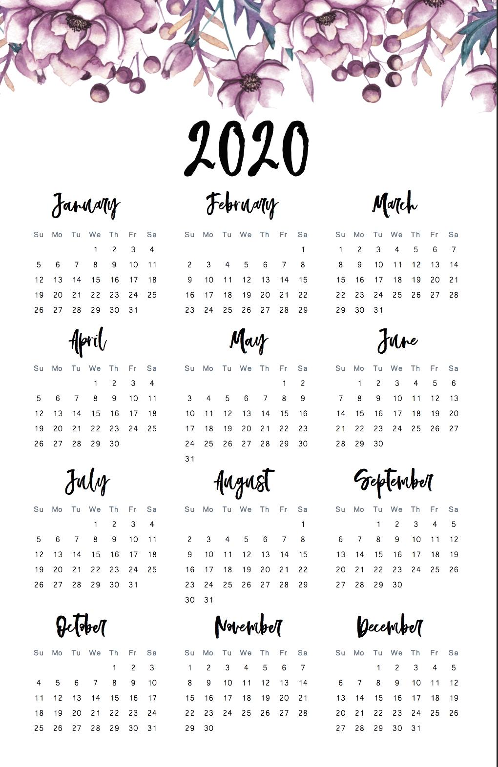 Calendar 2020 Aesthetic - Google Search In 2020 | Print