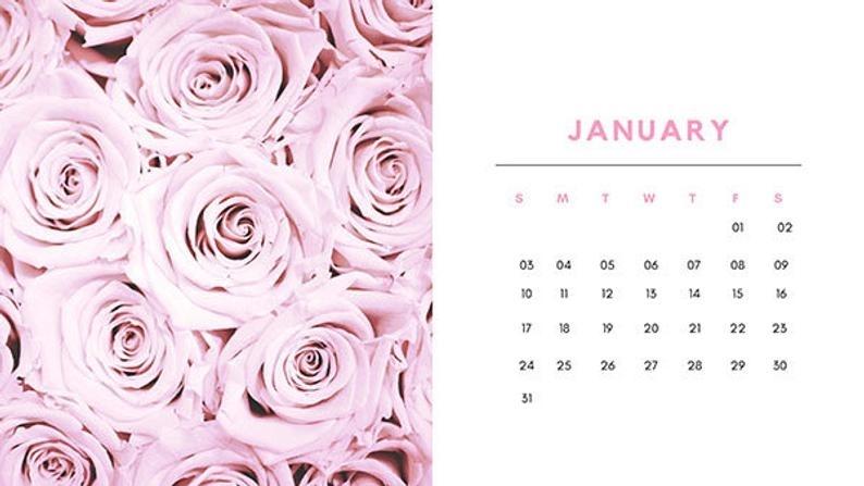 Calendar 2021 / All In Pink Calendar / Calendar Easy To