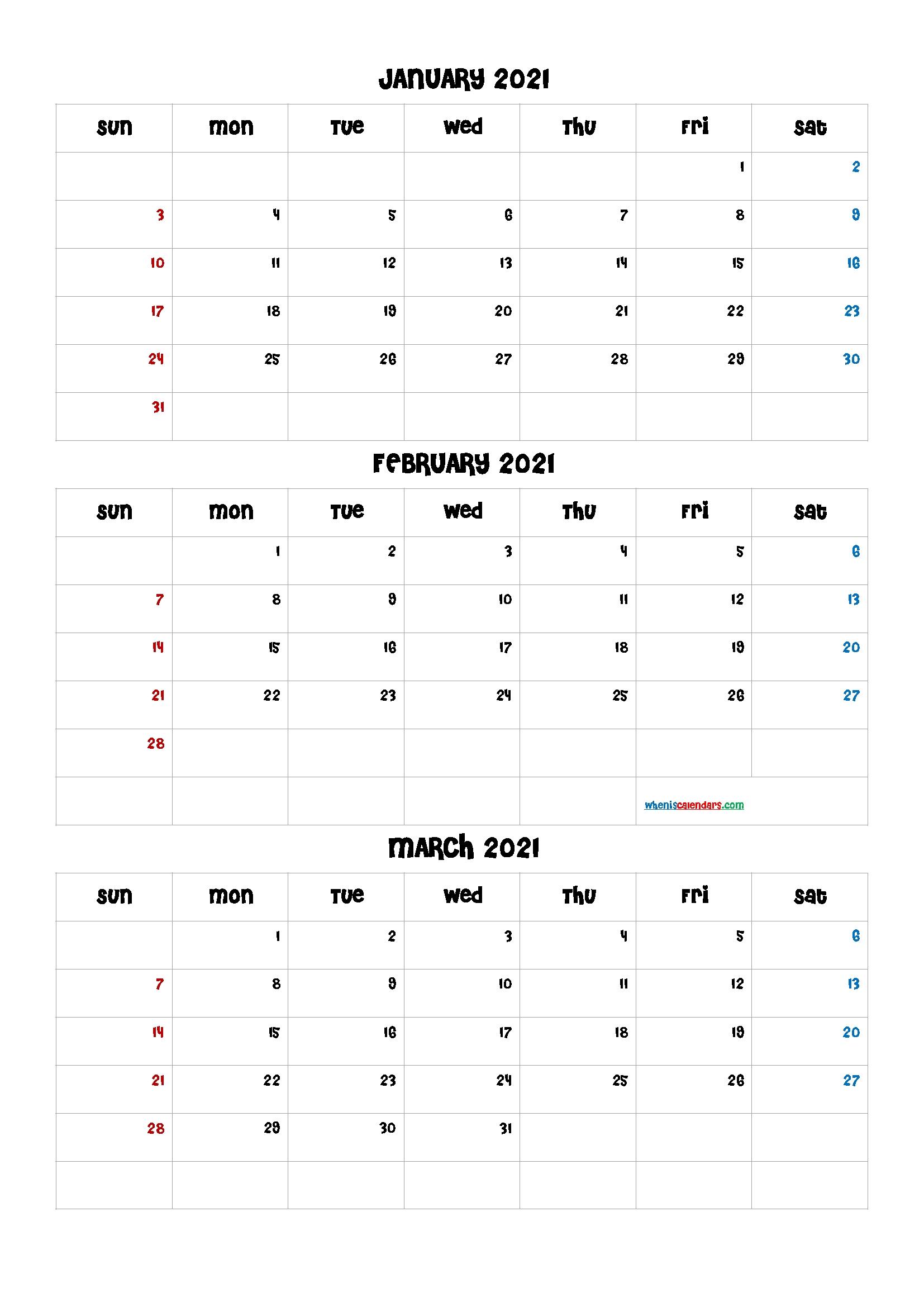 Calendar April May June 2021 [Q1-Q2-Q3-Q4] | Free