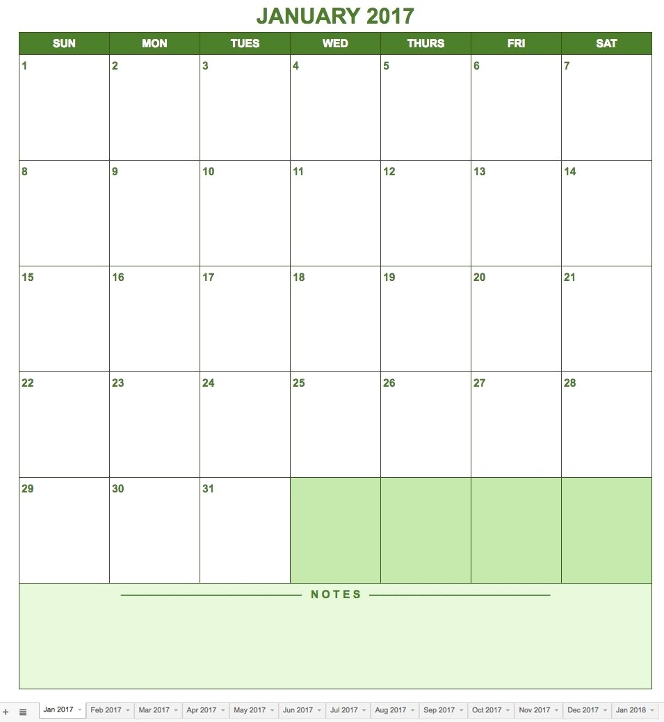 Calendar Template Google Drive | Example Calendar Printable