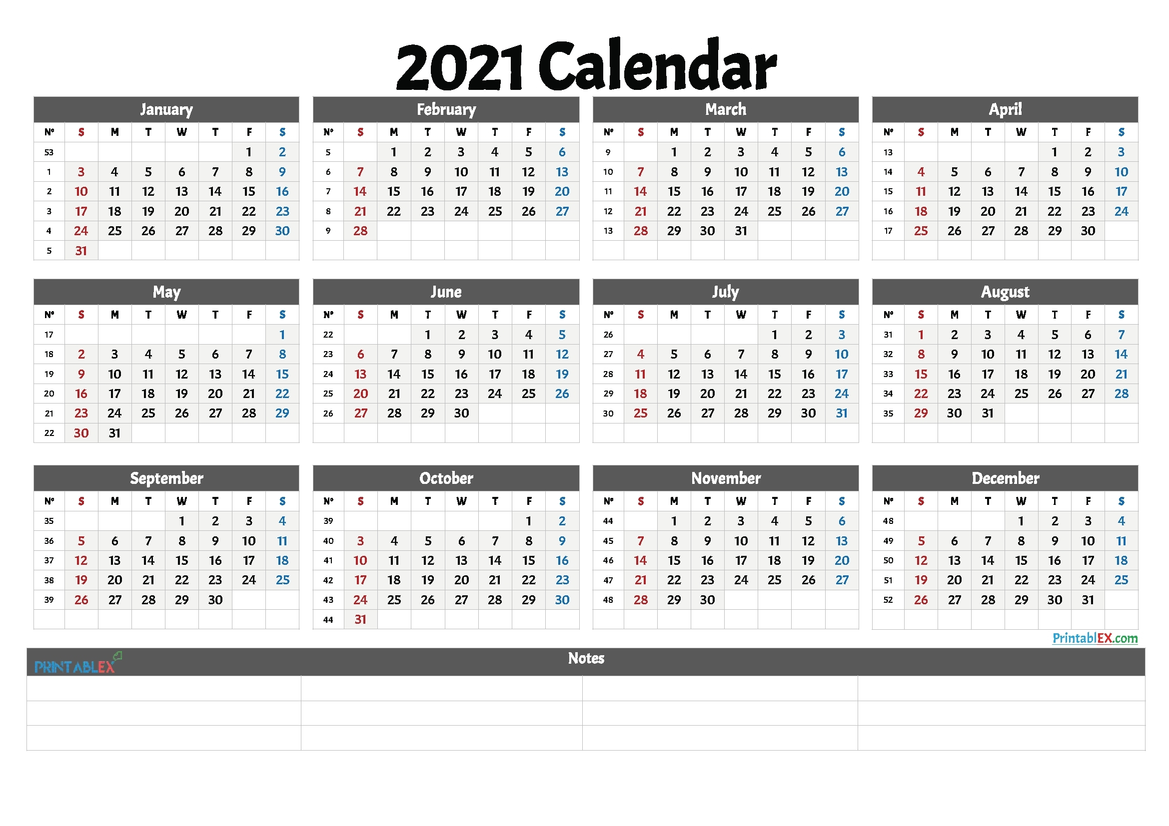 Calendar Week 2021 Pdf | Month Calendar Printable