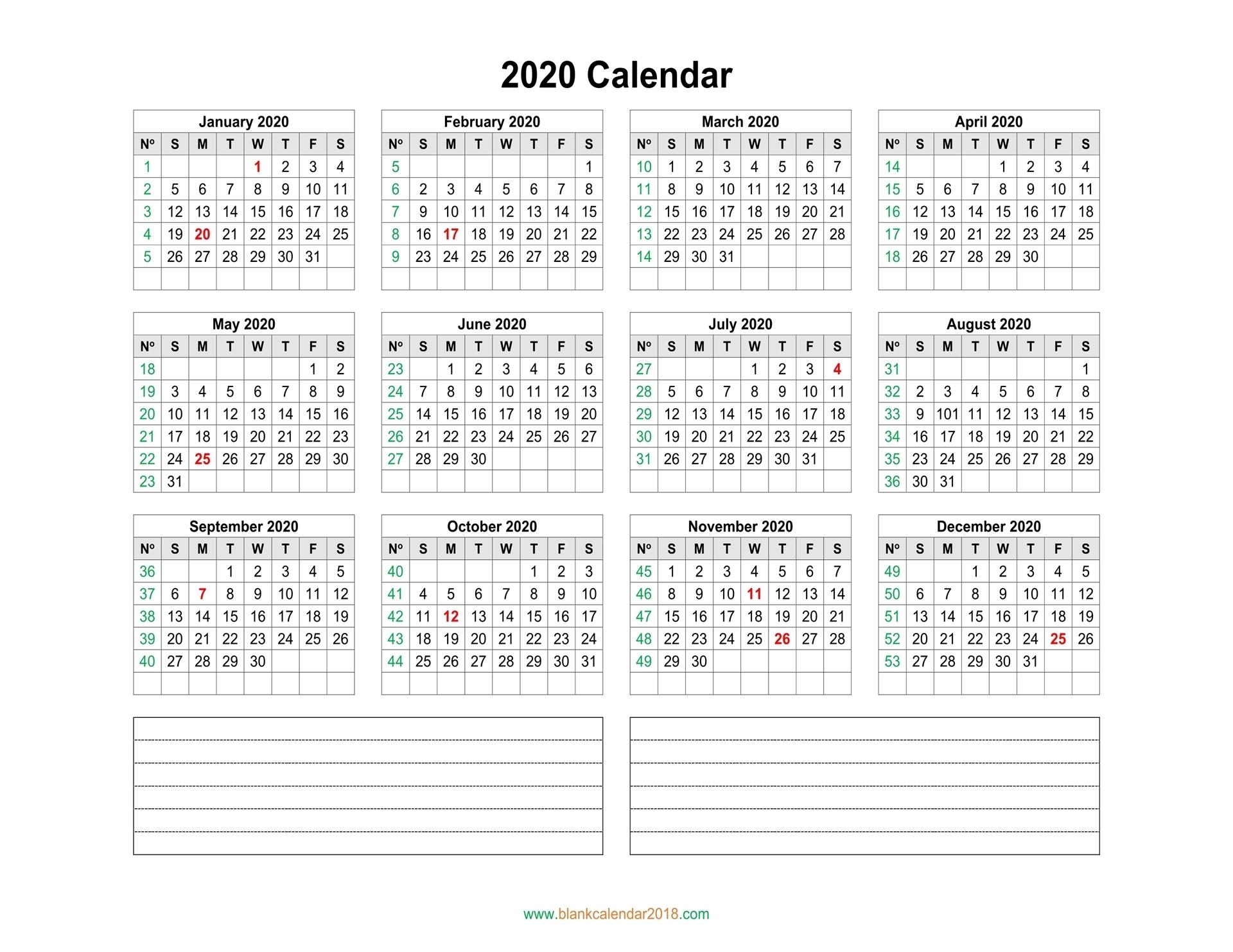 Calendar Week Wise 2020 Pdf | Calendar Printables Free