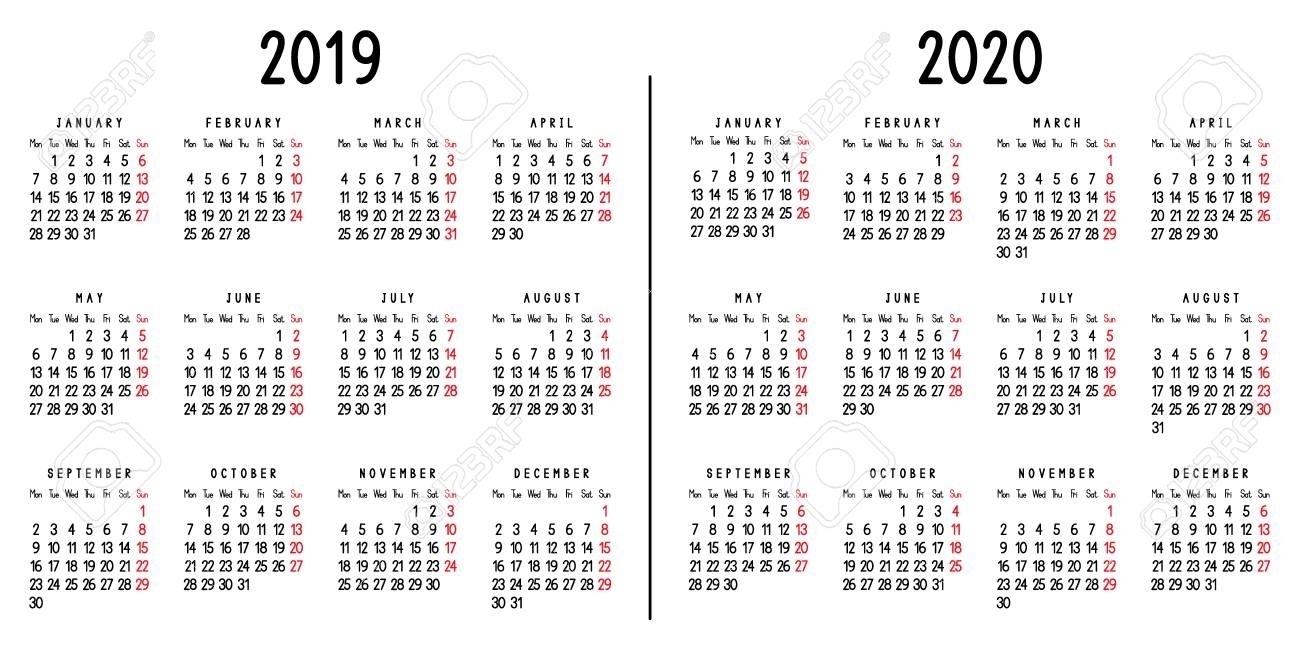 Calender For 2020 Week Wise - Calendar Inspiration Design