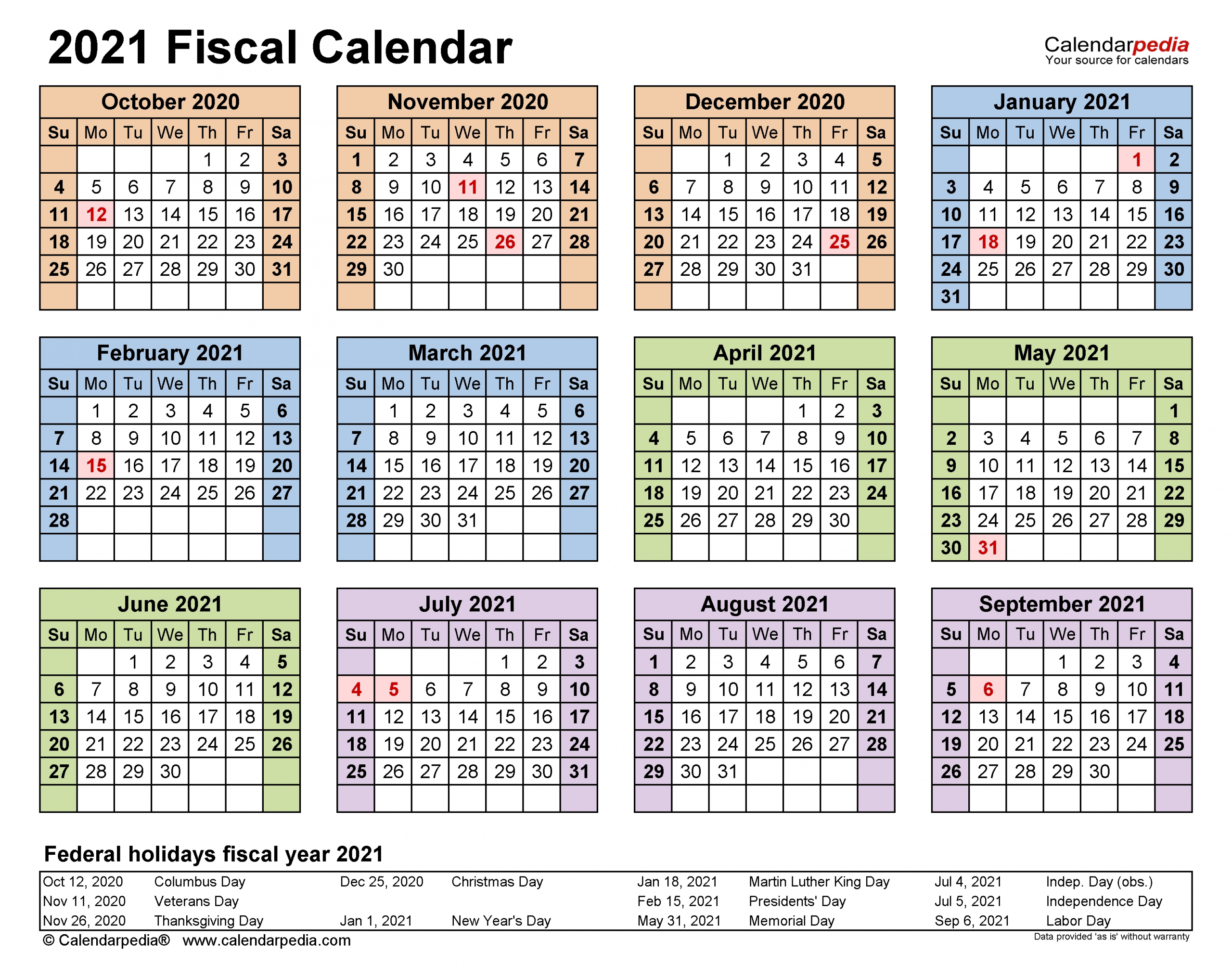 Calendrier Fiscal 2021 - Calendrier 2021