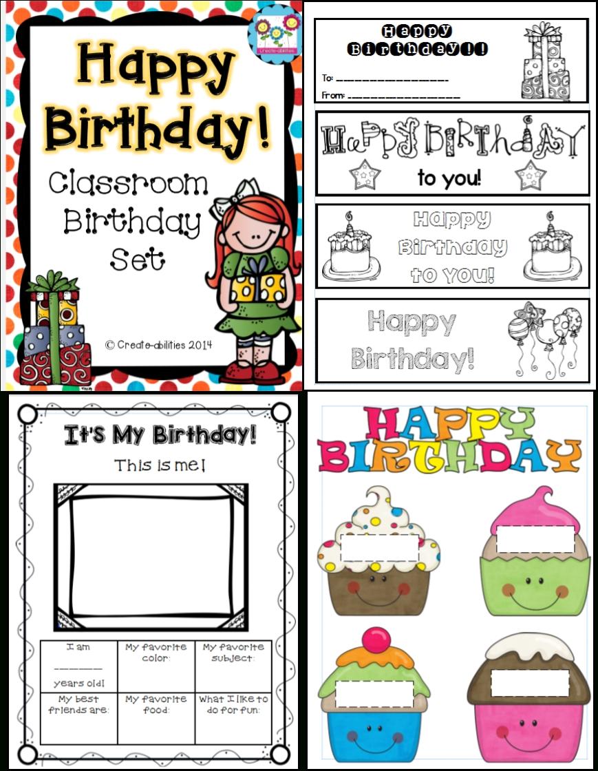 Classroom Birthday Set   Classroom Birthday, Classroom