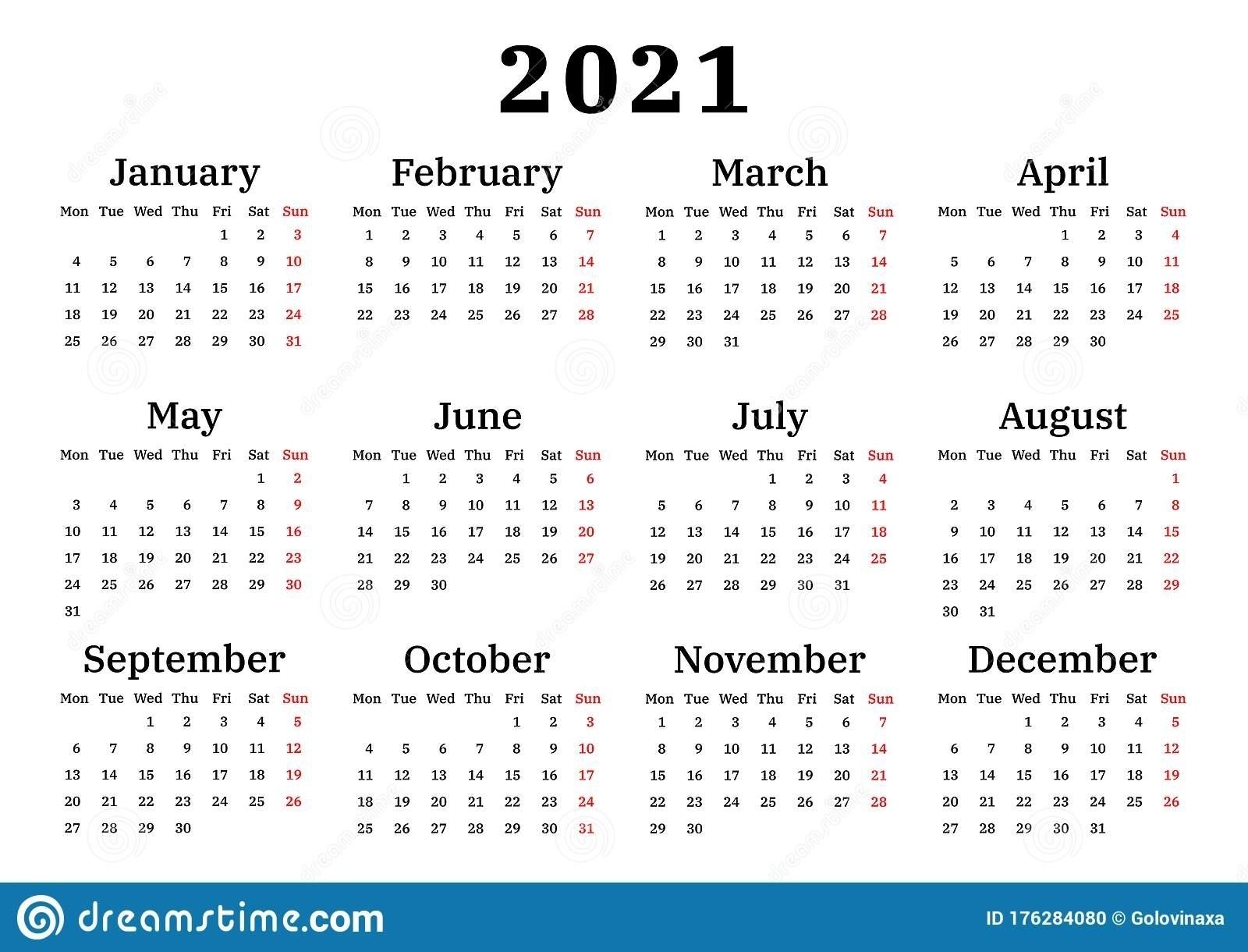 Collect Calender 2021 Week Start Monday - Best Calendar