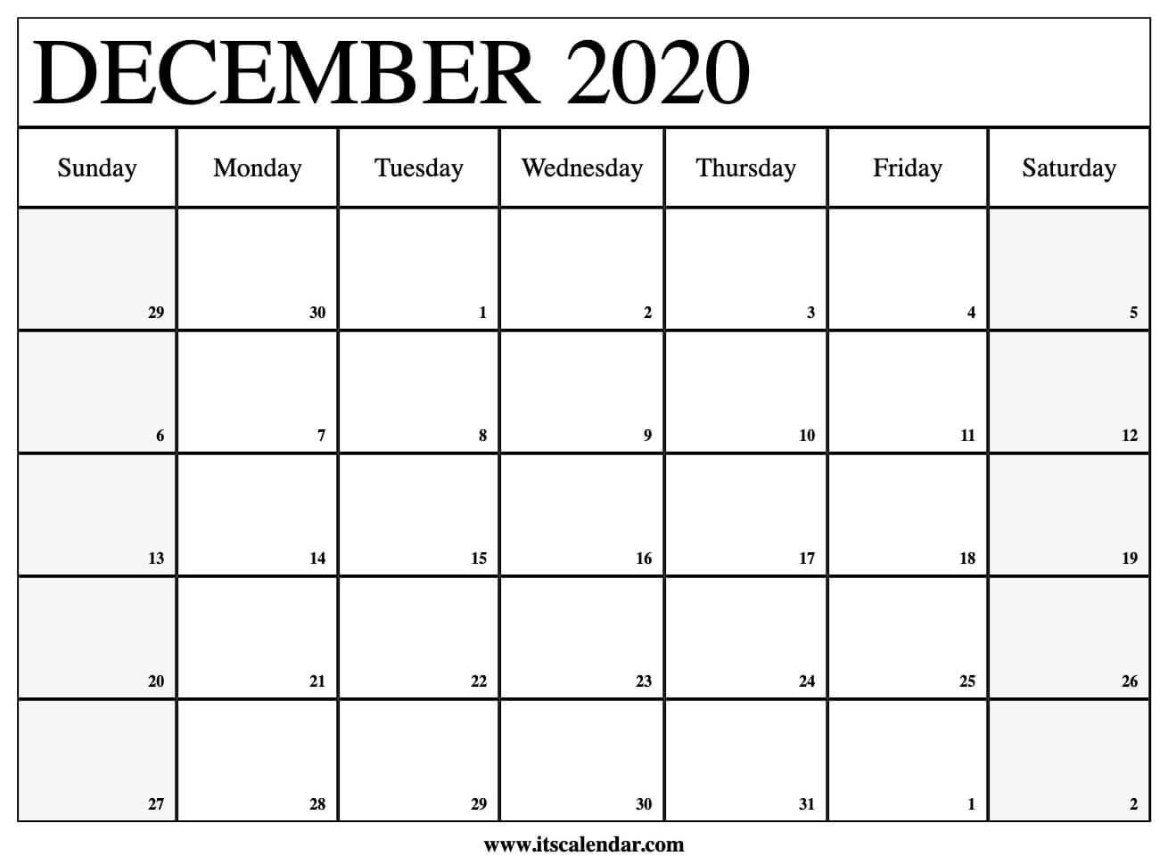 Collect November And December 2020 Calendar Festive