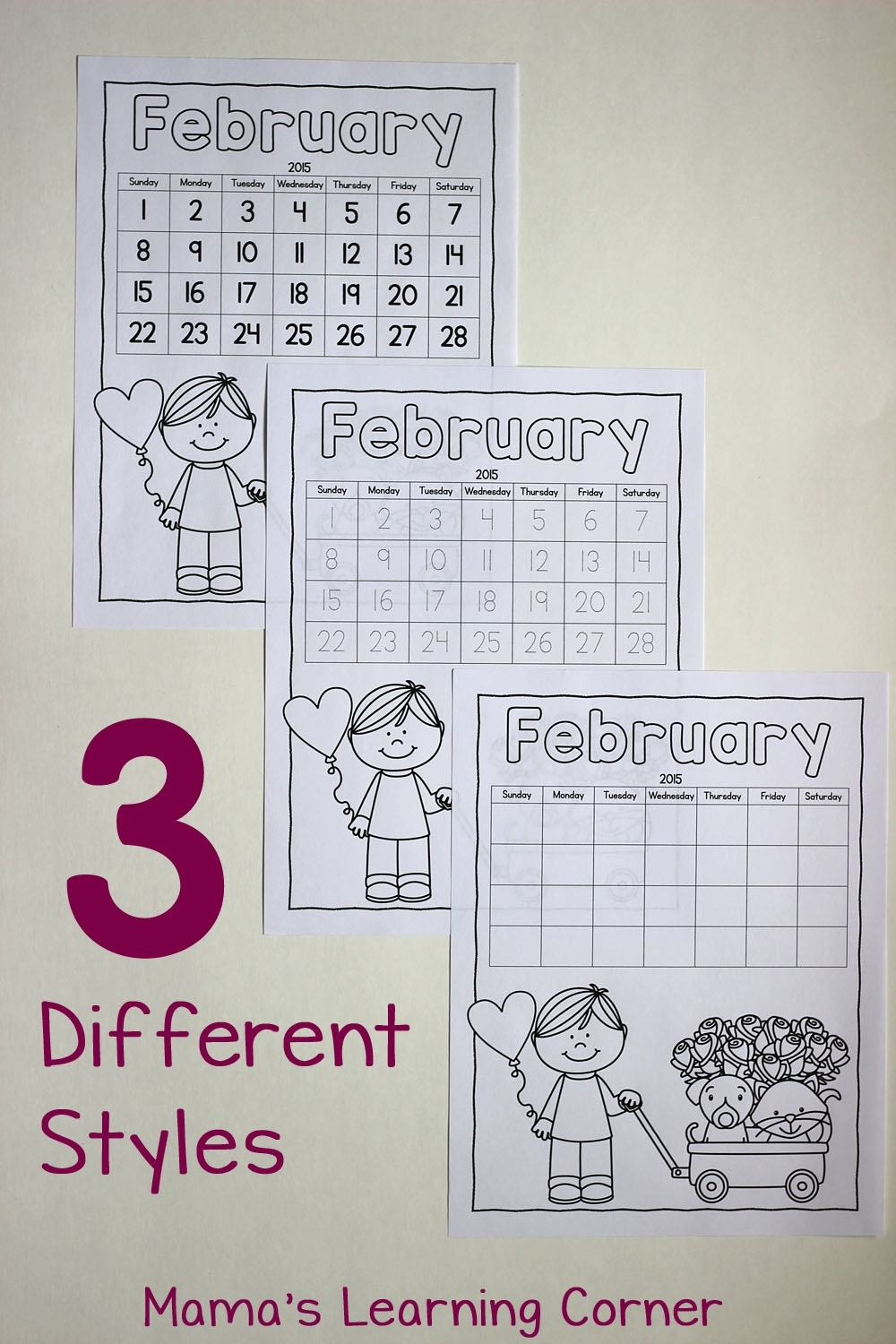 Color Your Own Calendar! - Mamas Learning Corner