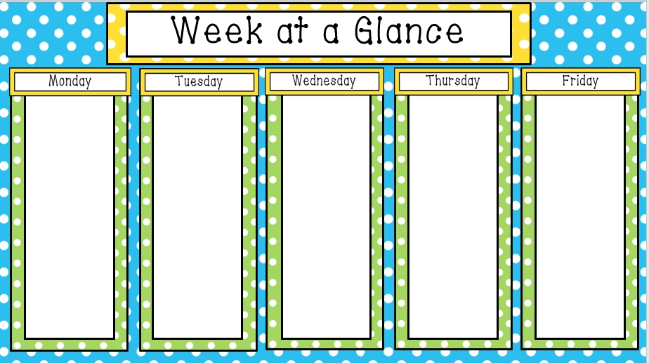 Colorful - Editable Week At A Glance Templates + Tutorial
