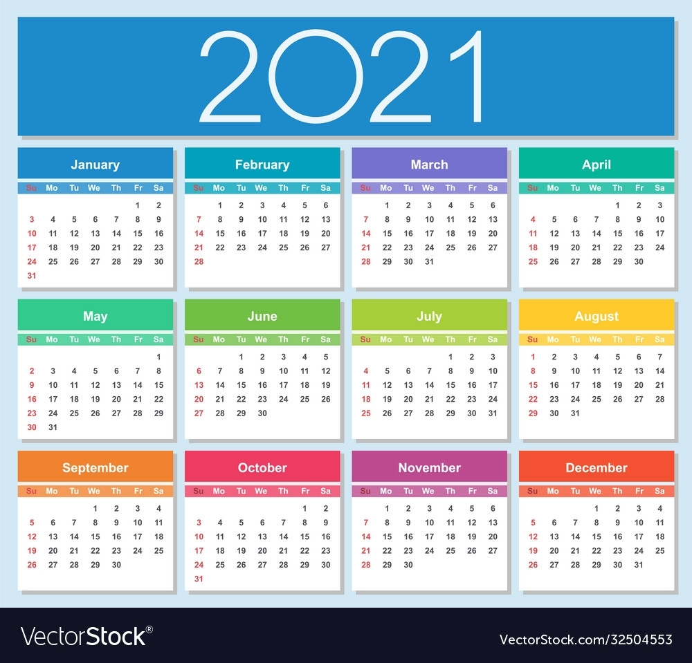 Week Of The Year 2021